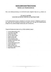 Wahlbekantmachung StuRa-Wahl 2016 Seite 1