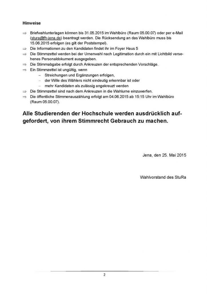 Wahlbekanntmachung StuRa-Wahl 2016 Seite 1