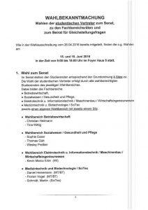 Wahlbekanntmachung Hochschule 2016 Seite 1