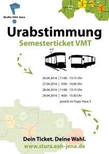 Plakat Urabstimmung VMT